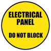 Electrical Panel Do Not Block yellow/black Sign