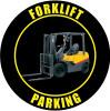 Forklift Parking Sign (Black)