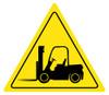 Caution Forklift Sign