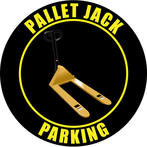 Pallet Jack Parking Sign (Black)
