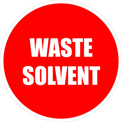 Waste Solvent Sign