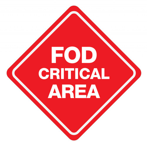 FOD Critical Area Sign