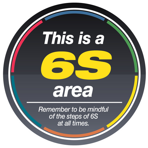 6S Area Sign (Black)- 5stoday.com 1-866-402-4776