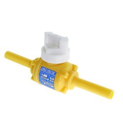 "1/2"" CTS  0.090 Wall DR7 MDPE Poly Ball Valve Full Port Yellow PE2406"