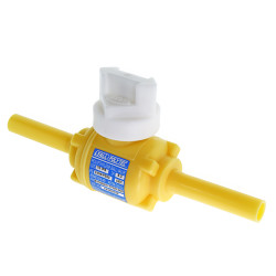 "3/4"" IPS DR11 MDPE Poly Ball Valve Full Port Yellow PE2406"
