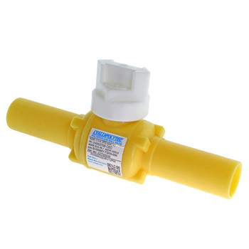 "1-1/4"" IPS DR10 PE2406 Poly Valve Full Port Yellow"