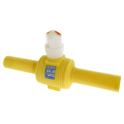 "2"" IPS DR11 Poly Valve Full Port Yellow PE2406"