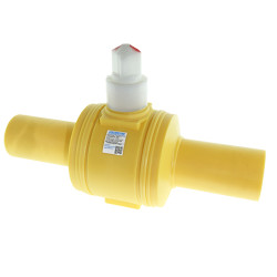 "6"" IPS DR11 MDPE Poly Ball Valve Full Port Yellow PE2406"