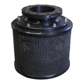 """10"""" Compact Flanged Hdpe Combination Foot Valve With Screen"""