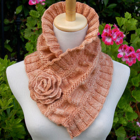 Ruffled and Ruched Scarf
