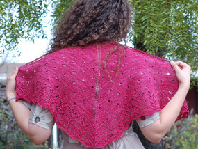 Raindrops on Roses Shawlette