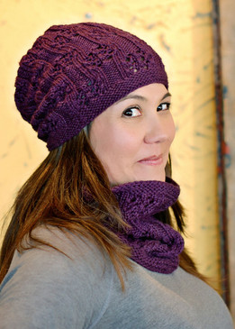 Blackberry Brambles Hat and Cowl