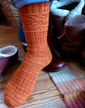 Fishbone Gansey Sock