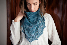 Blue Lake Spring Shawl