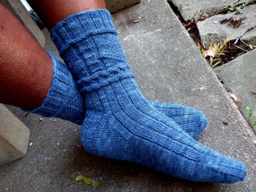 Lighthouse Gansey Sock