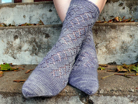 Winding Diamonds Sock