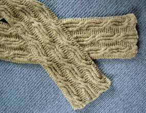Cable and Rib Scarf