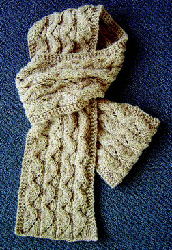 Opens & Folds Cabled Scarf