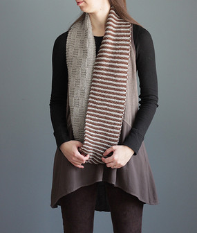 Stripe & Basket Cowl