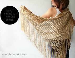 Simply a Fringe Triangle Shawl