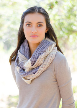 Crochet Challah Infinity Scarf