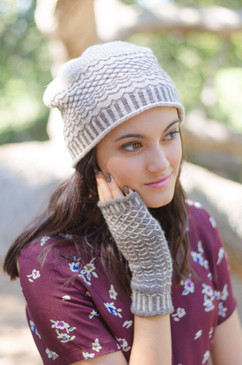 Quilted Lattice Hat & Mitts