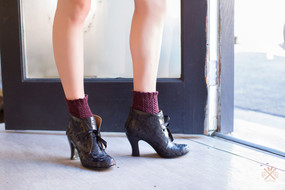 Mary Jane Lacey Liners For Short Boots