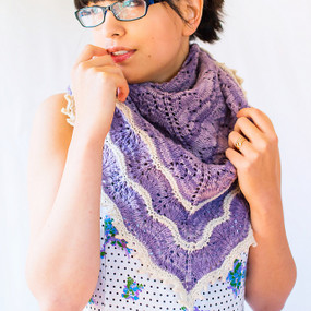 Fields of Lavender Shawl