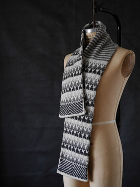 Snowy Evening Woods Scarf by Mary O'Shea