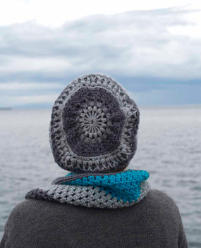 Mandala Hat and Cowl Set