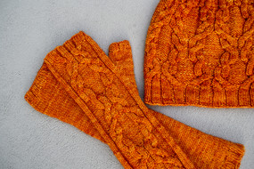 Yuzu Hat & Fingerless Mittens Set
