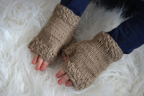Off to Grandma's Fingerless Mittens