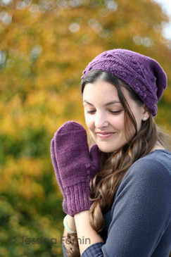 Cayuga Hat and Mitts Set
