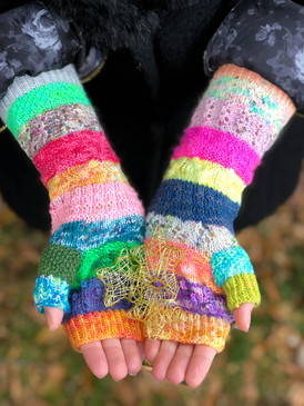 Young, Scrappy, & Hungry Fingerless Mitts