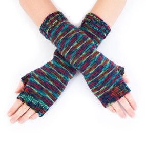 Simple Fingerless Mitts