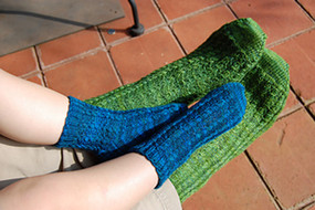 Simple Cable Socks