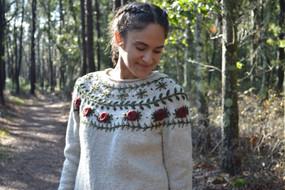 Boho Wreath Sweater