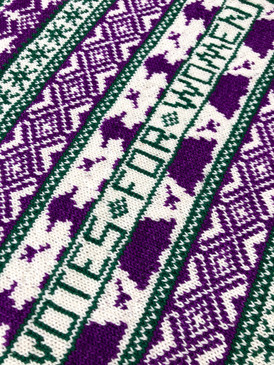 Suffragette Baby Blanket
