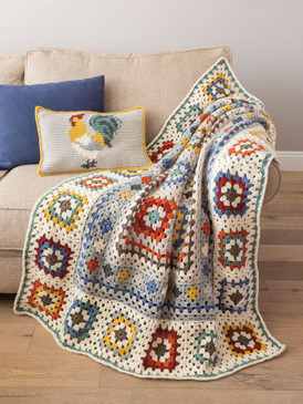 Farmhouse Granny Afghan & Pillow