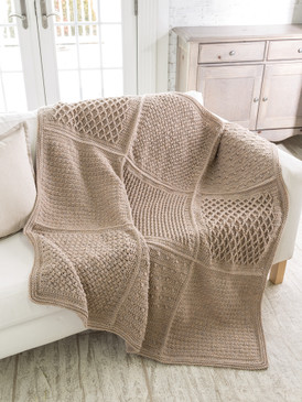 Gansey Block Crochet Afghan