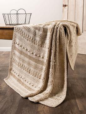Gansey Style Crochet Afghan