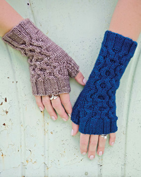 Ripple Effect Fingerless Gloves
