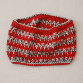 Candy Stripe Cowl