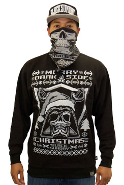 Dark Side Ugly Christmas Mens Crew Neck Fleece