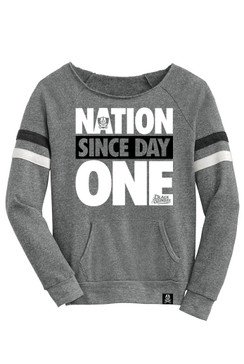 Day One Womens Grey Long Sleeve Raglan