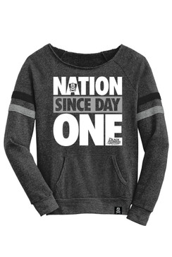 Day One Womens Black Long Sleeve Raglan