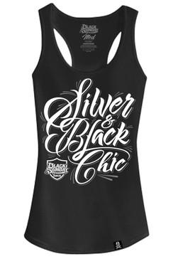 Silver Script Womens Tri-Blend Racerback Tank Top