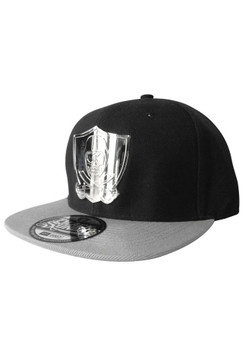 Metal Shield Snap Back Hat - Black/Grey
