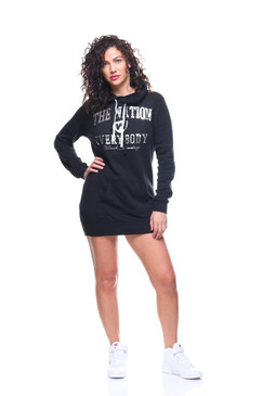 Nation Vs. Everybody Women's Foiled Pullover Hoodie Dress
