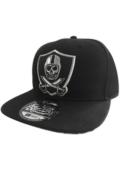 Chrome Snap Back Hat - Black